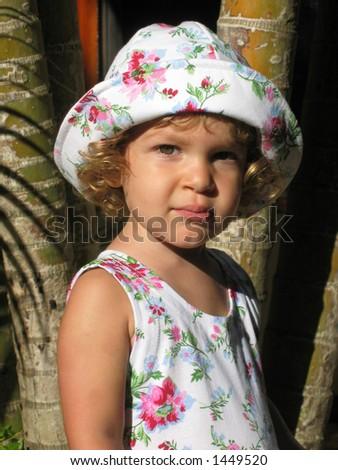 Tropical Child Portrait 2 - stock photo