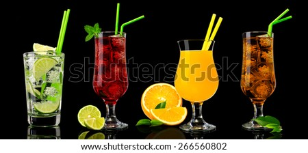 Tropical cocktail assortments