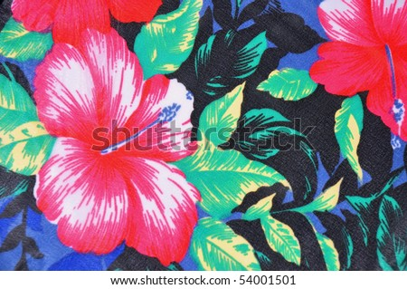 Tropical flower (hibiscus)  pattern useful as a background pattern - stock photo