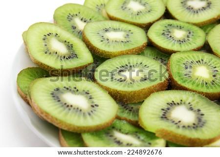 tropical fruit kiwi as element meal - stock photo