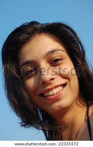 Tropical girl - stock photo