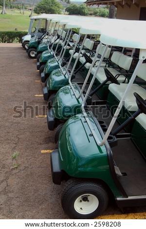 Tropical Golf Carts 2 - stock photo