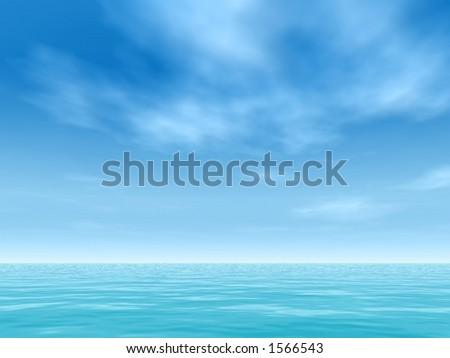 tropical horizon - stock photo