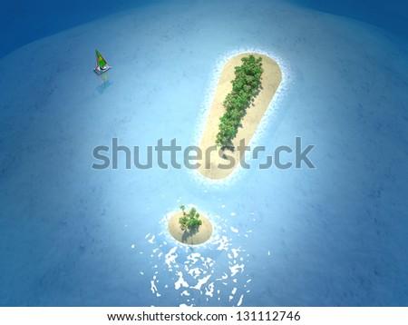 Tropical Island - stock photo