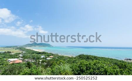 Tropical island coastline paradise of Ishigaki island, Okinawa, Japan - stock photo