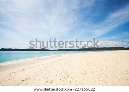 Tropical Island in Dimakya island, Palawan, Philippines.