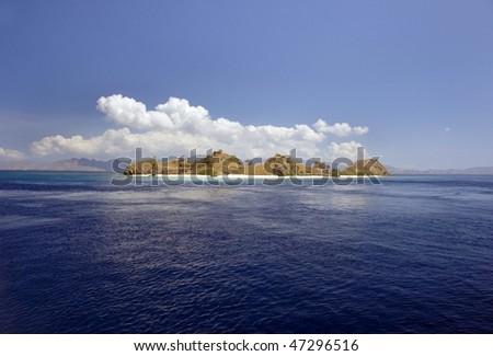 Tropical island in Indonesia. - stock photo