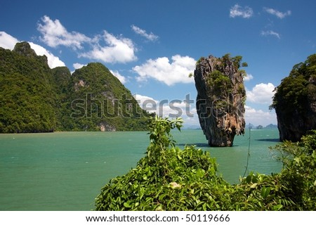 Tropical island landscape - stock photo