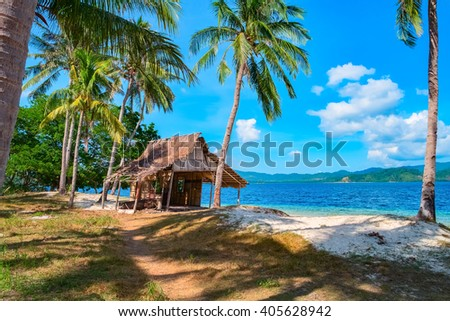 Tropical island landscape, El Nido, Palawan, Philippines, Southeast Asia - stock photo