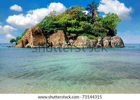 Tropical island, Trat archipelago, Thailand - stock photo