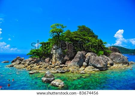 Tropical islands, Trat archipelago inThailand - stock photo