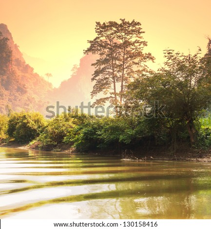 Tropical landscapes,Vietnam - stock photo