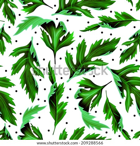 Tropical leaves. seamless stylish fashion floral pattern, in Hawaiian ...