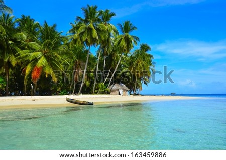 Tropical lsland  - stock photo