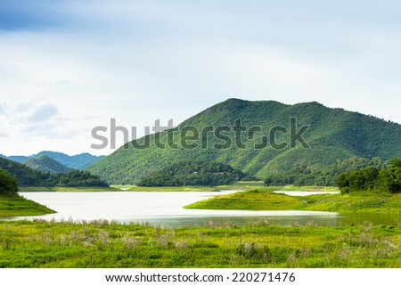 Tropical Mountain Range,This place is in the Kaeng Krachan national park,Thailand - stock photo