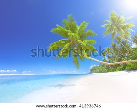 Tropical Paradise Beach Summer Concept - stock photo
