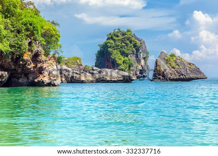 Tropical paradise in Thailand. - stock photo