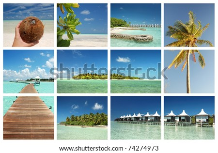 Tropical paradise island concept - stock photo