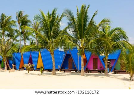 Tropical resort panorama in Koh Samui, Thailand - stock photo
