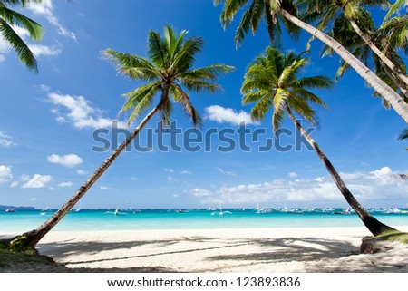 Tropical scene, Boracay - stock photo