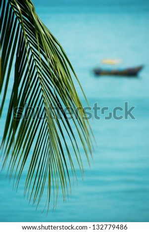 Tropical scenery - stock photo