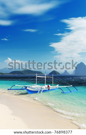 Tropical sea landscape. Philippines, El Nido. - stock photo