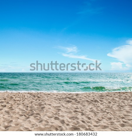 tropical sea,sea and sand of thailand - stock photo