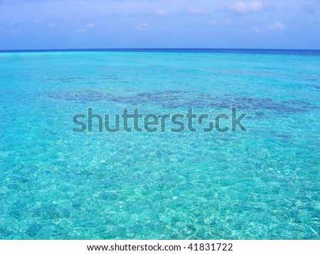 Tropical sea water background - stock photo