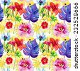 Tropical Seamless pattern. - stock photo