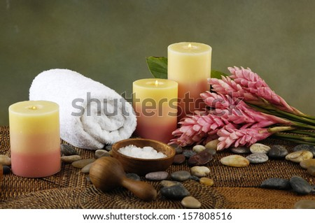 Tropical spa sitting - stock photo