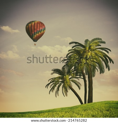 Tropical summer, abstract travel backgrounds for your design - stock photo