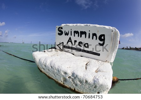 Tropical swimming area