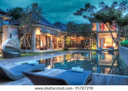Tropical villa - stock photo