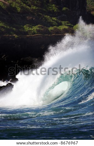 tropical wave - stock photo