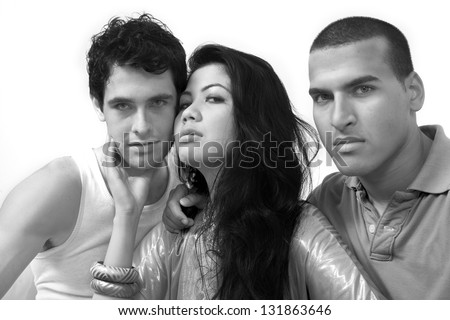 Troubled relations - stock photo