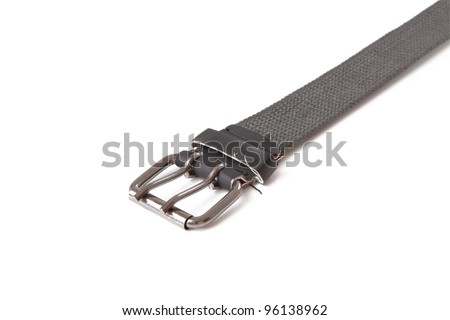 trousers belt isolated on white background