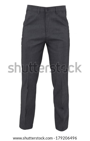 trousers for men isolated on a white background - stock photo