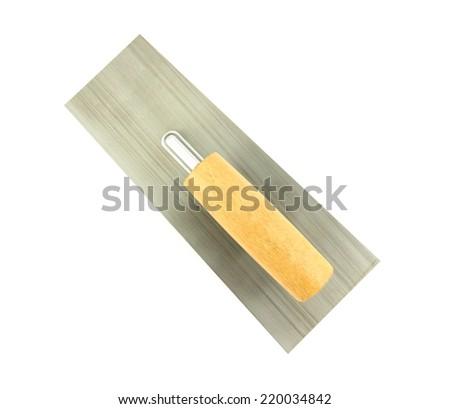 trowel isolated on white background - stock photo