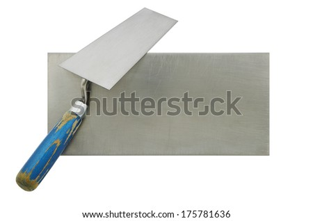 Trowel isolated tool coverage in construction - stock photo
