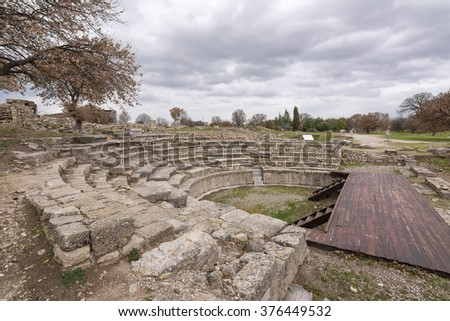 Troy Ancient City, Canakkale - stock photo