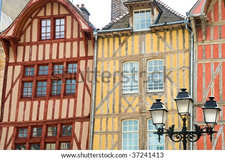 Troyes (Aube, Champagne-Ardenne, France) - Ancient half-timbered buildings