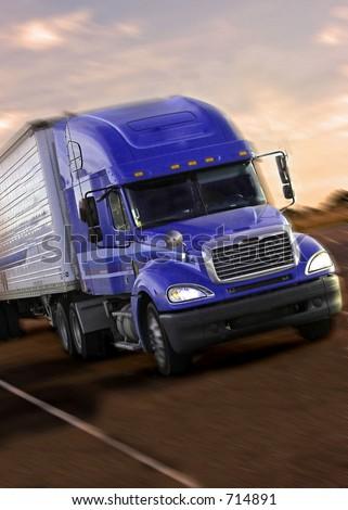 truck 3/4 - stock photo