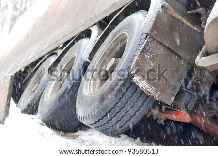truck crash - stock photo