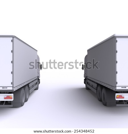 Truck. 3d illustration. - stock photo