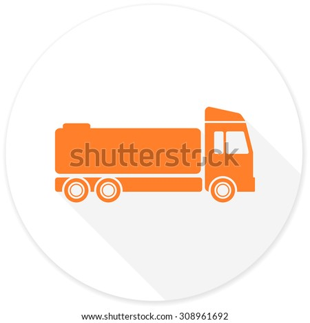 Garbage truck icon flat illustration garbage stock vector for Truck design app