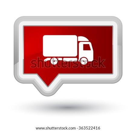 Truck icon red banner button