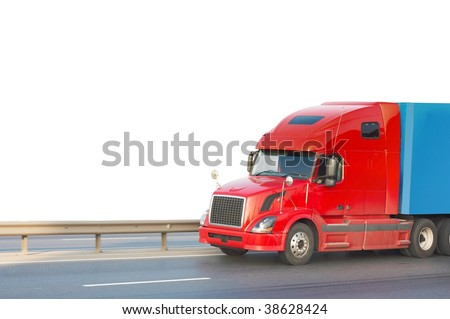 truck isolated - stock photo