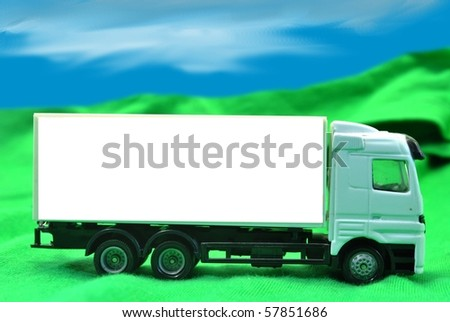 truck model with empty space