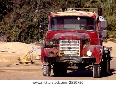 Truck of the desert - stock photo