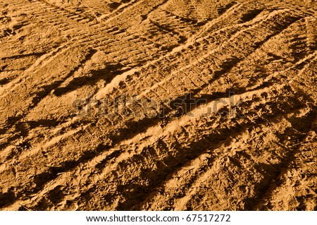 Truck Tire Background Texture - stock photo